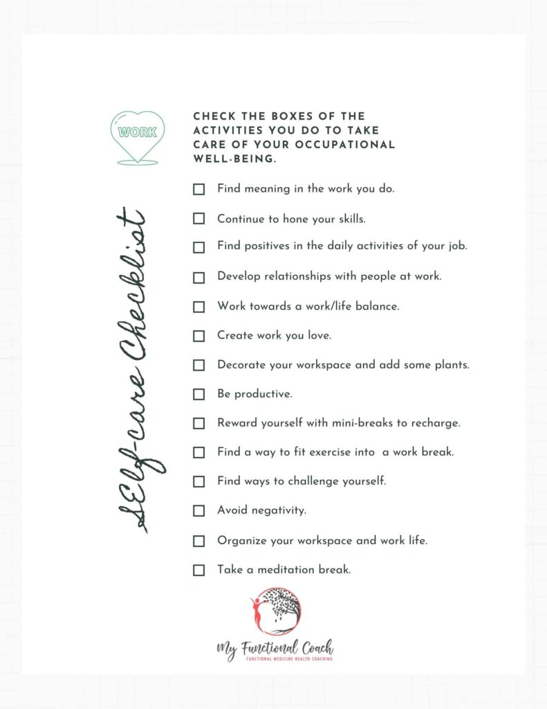 Occupational well-being checklist