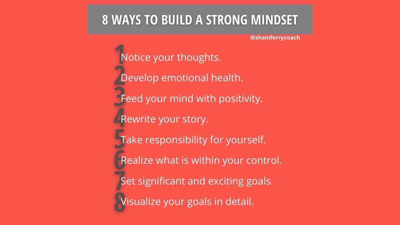 8 Ways to build strong mindset